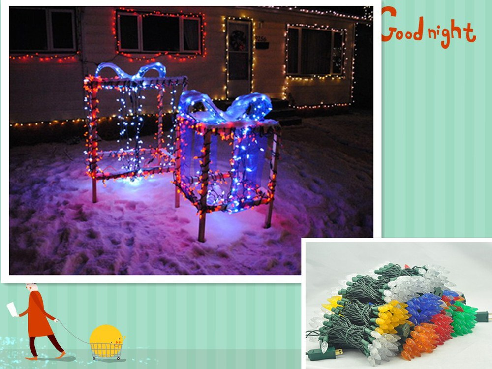 Ul Listed C6 Strawberry Mini Lights Commercial Grade Led Christmas ...