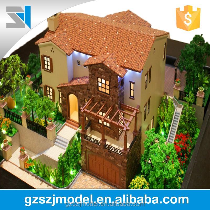 Huis model maker met mooie landschap architectuur ontwerp van villa architectuur design product - Model van huisarchitectuur ...