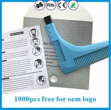 China factory plastic comb beard trimming beard shaping tool