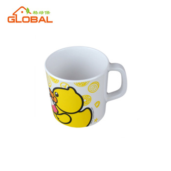melamine mugs with yellow duck design for kids