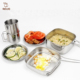good quality small stainless steel pot pans camping cook set for picnic