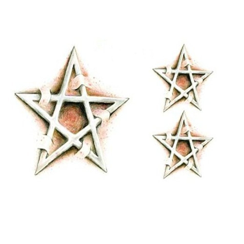 Kangkang@ Set of 2 Cool Stylish Star Totem Tattoo Body Tattoo Stickers Temporary Tattoos