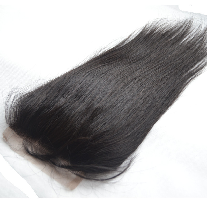 Free Part Straight Unprocessed Virgin Brazilian Human Hair Closure Natural Black 3.5*4 Brazilian Straight Lace Closure Baby Hair