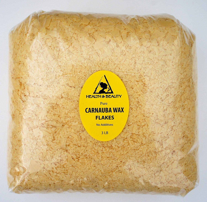 Carnauba Wax Organic Flakes Brazil Pastilles Beards Premium Prime Grade A 100% Pure 48 oz, 3 LB