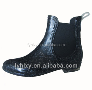 Hot sale custom made ankle wellington women short PVC rain boots