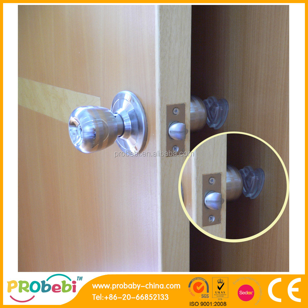 MroMax Door Stopper 2pcs Round Soft Rubber Adhesive Wall Guard Protector Door Handle Bumper Stop Stopper Beige