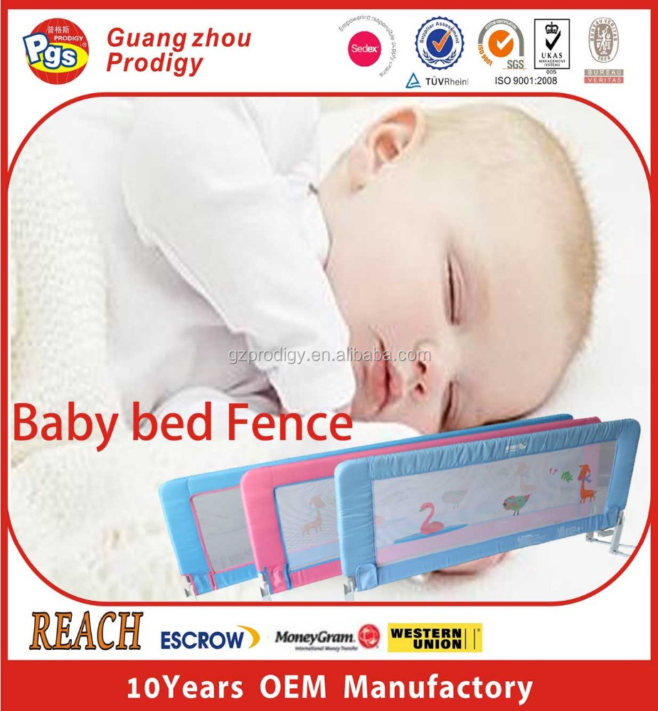 Child Bed Fence Two Sides Baby Bed Guard Kids Bed Rail
