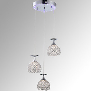 incandescent energe saving led light source crystal ball pendant light