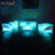 Plastic hot sale remote control waterproof illuminated glowing night club outdoor led sofa