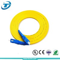 0.9mm diameter single mode APC LC to SC optical fiber patch cord