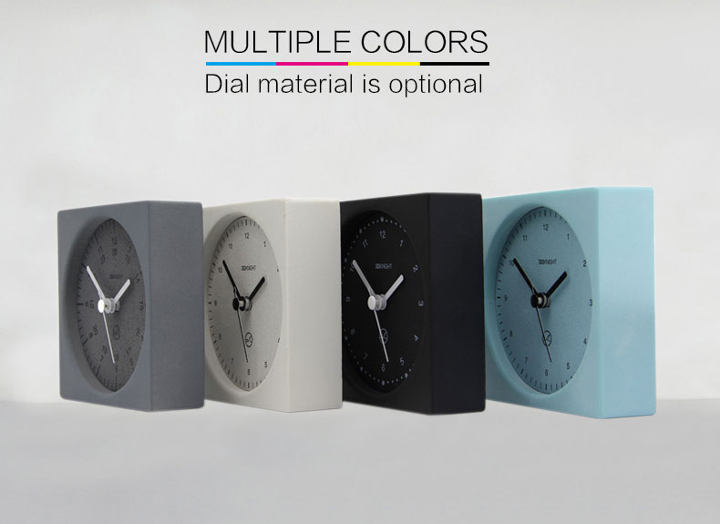 Best Design Teal Blue Table Concrete Clock For OFFice
