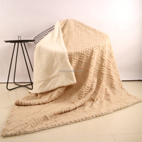 100 polyester jacquard plaid patchwork throw blanket