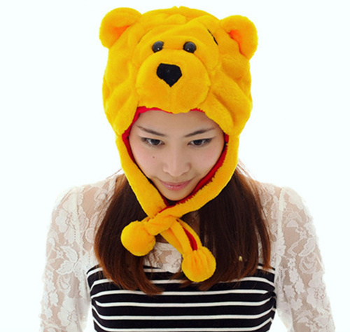 919bd4bdc09 2015 New Hot Sales Fashion Yellow Bear Shaped Hat Lovely Boy Girl Hats  Winter Children Warm Baby Cap Gifts Free Shipping