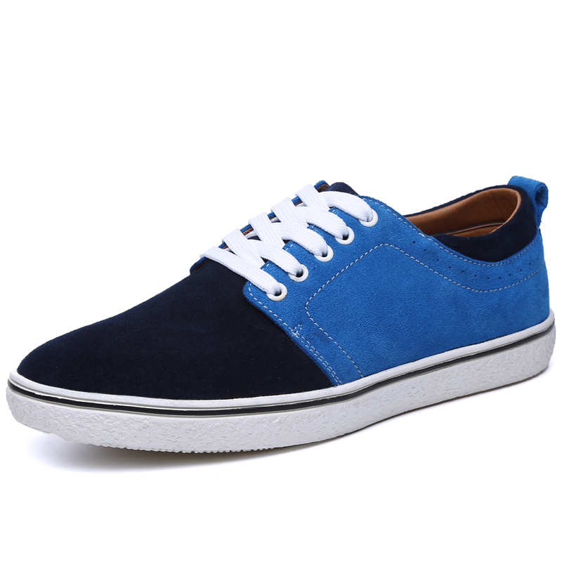 2015 New Fashion Summer Style Genuine Suede Leather Oxford Flats Masculino Sneakers Zapatillas Casual Espadrilles Balance Shoes