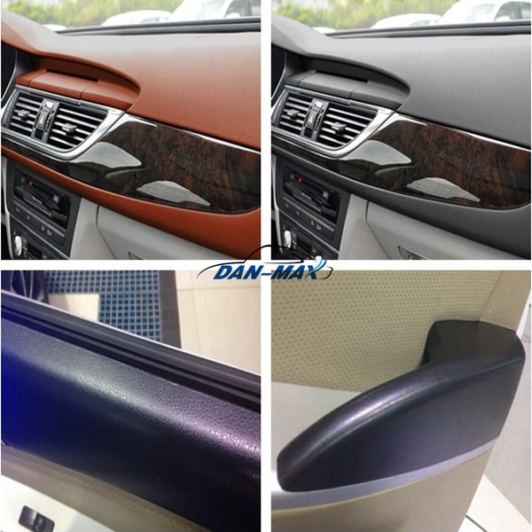 Water Proof Pvc Self Adhesive Auto Interior Black Leather Vinyl Sticker Buy Leather Vinyl