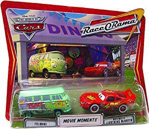 Disney / Pixar CARS Movie Moments 1:55 Die Cast Figure 2-Pack Series 4 Race-O-Rama Fillmore and Whitewalls Lightning McQueen