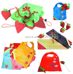 Foldable Strawberry bag Several Colors Shopping Bag Grocery Folding Bag