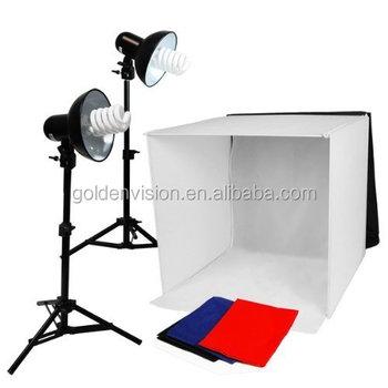 tafel top fotografie studio verlichting vierkante tent kit 20 tent 2 licht