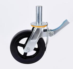 6 inch 150mm rubber scaffolding caster wheel with iron core