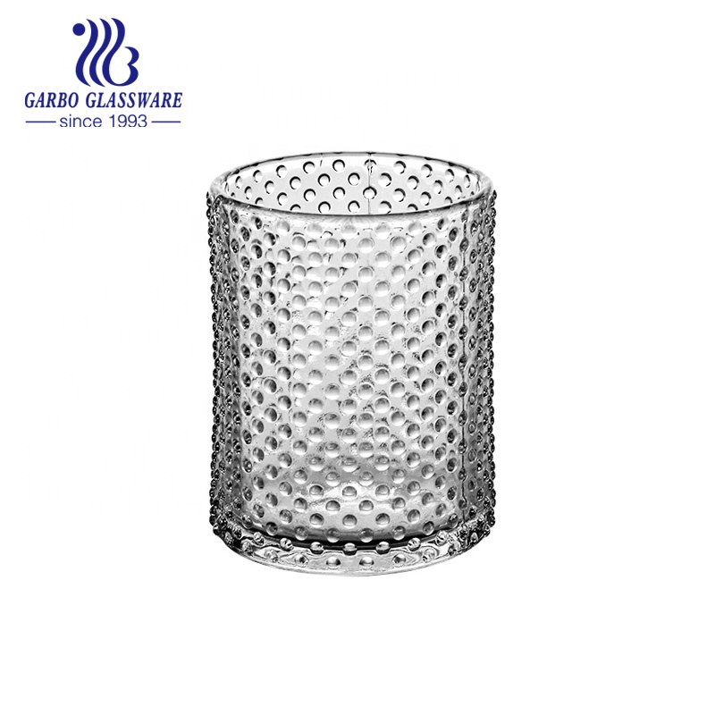 Cinese Fabbrica Diretta 3 pollici Decorativo Elegante Clear Glass Candle Holder GB22134ZD-1