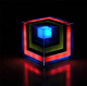Rainbow cube wireless blue tooth speaker with colorful led light
