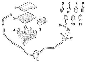Ford Oem Junction Block Cover Fu5z14a003a Image 3