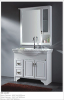 white pure oak soild wood bathroom furniture with large storage space
