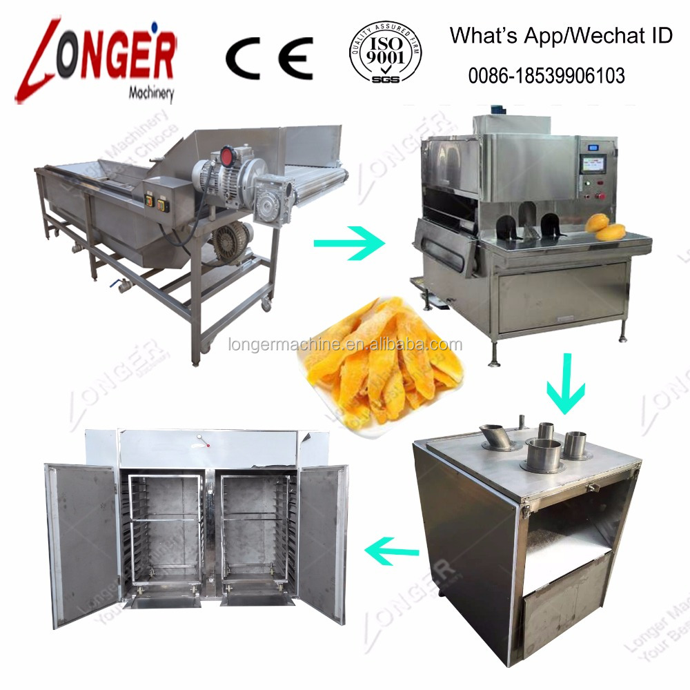 Professional Washing Peeling Slicing Drying Mango Processing Machine