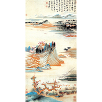 Traditional Chinese Art Print of Mountain and Water Painting by Zhang Daqian