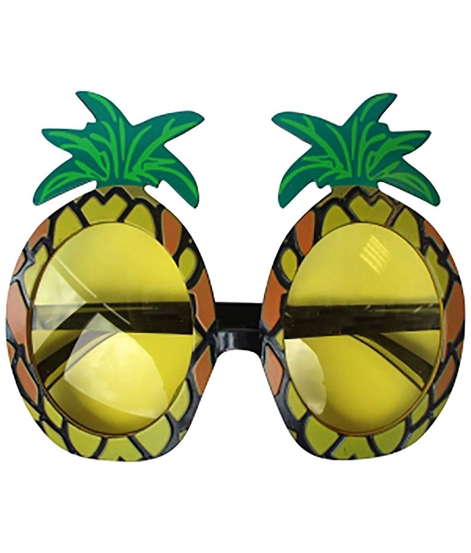 Girls Hawaiian Pineapple Fancy Glasses Ladies Beach Party Wear Fancy Dress Accessory One Size