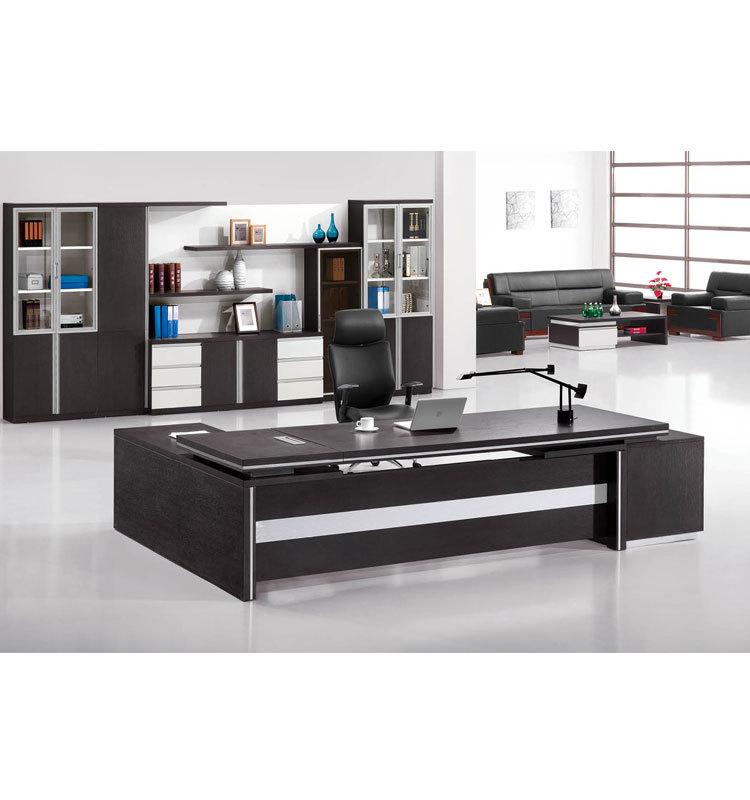 Latest Model Furniture Red Sandalwood Finish Executive Office