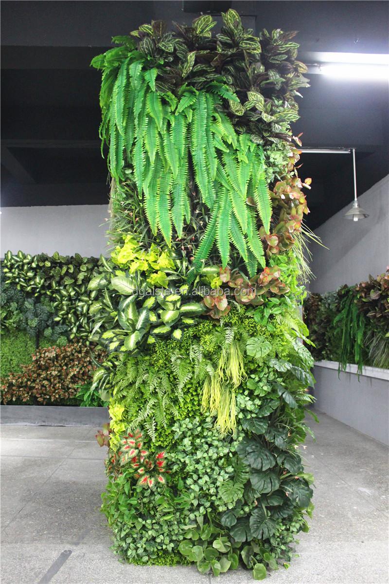 stickers home garden deco 300cm tall indoor or outdoor artificial plain green climbing column. Black Bedroom Furniture Sets. Home Design Ideas