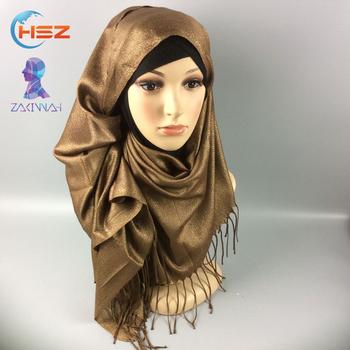 Zakiyyah FX009 Pas Cher foulard en mousseline de soie hijab plaine tricoté  écharpe épais musulman châles 015c1cc94a3