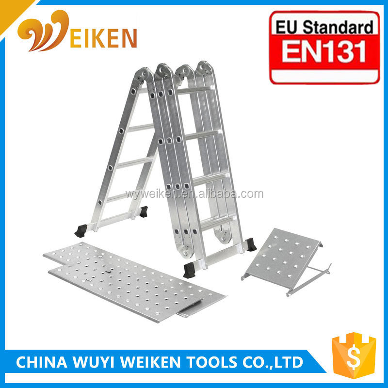 10% Discount 4x3 4x4 aluminum multi purpose ladder