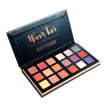 Beauty Glazed 18 Warm Colors Glitter Makeup Professional Cosmetic Matte Eyeshadow Palette