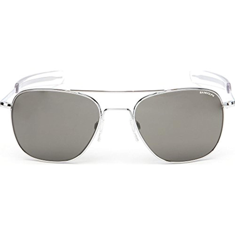 18524871c7f56 Randolph Aviator Bright Chrome Bayonet Temple Gray Polarized Sunglasses