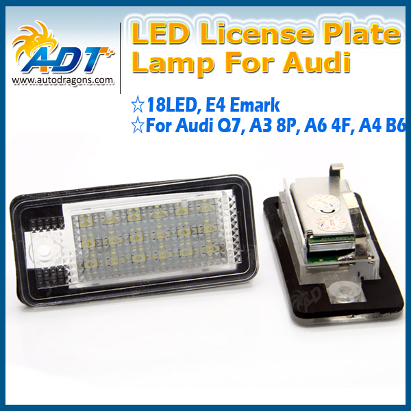 12V Bright 18 LEDs License Plate Light Lamp Bulbs Number Plate Light for Audi Q7 TDI A3 8P A6 4F A4 B6