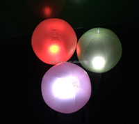 Light-up LED Inflatable Beach Ball for Night Pool Party,Flashing LED Lighted inflatable Beach Balls