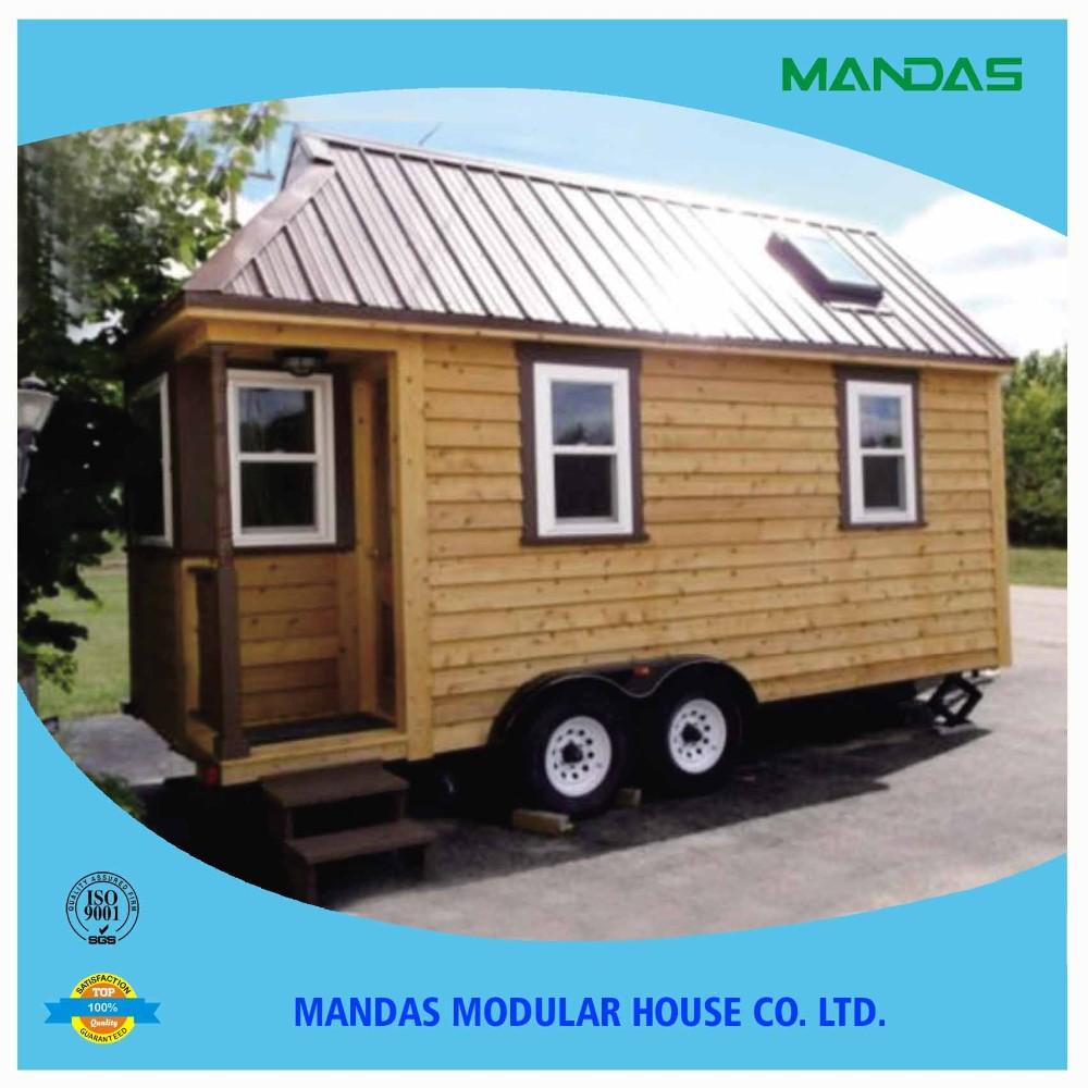 Europa pop caliente de madera casas de contenedores con - Casas prefabricadas con ruedas ...