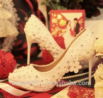Women WS005 Wedding Shoes Bridal Crystal YqqTvUwP