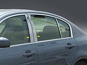 2007-2013 Infiniti G Sedan 4pc. Luxury FX Chrome Pillar Post Trim