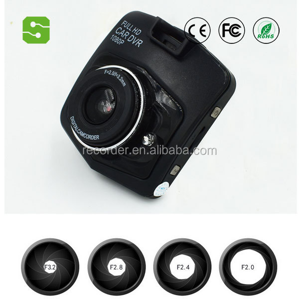 2.4 inch Digital Recorders mini dv 1080p dvr video camera 170 degree car speed recorder
