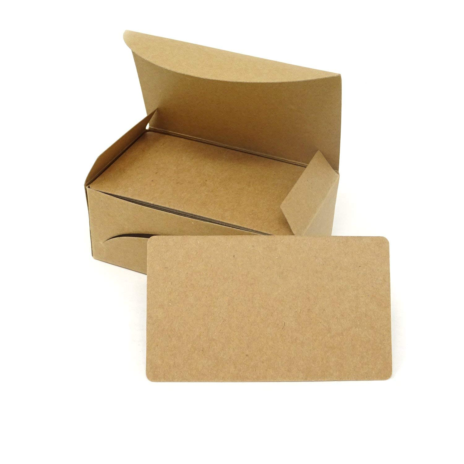Get Quotations Honbay 100pcs Blank Kraft Paper Message Cards Word Business Diy Gift