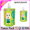 Yason electronic resealable pouch pouch with spout for soup 2014 plastic spout pouch bag for fruit juice packaging