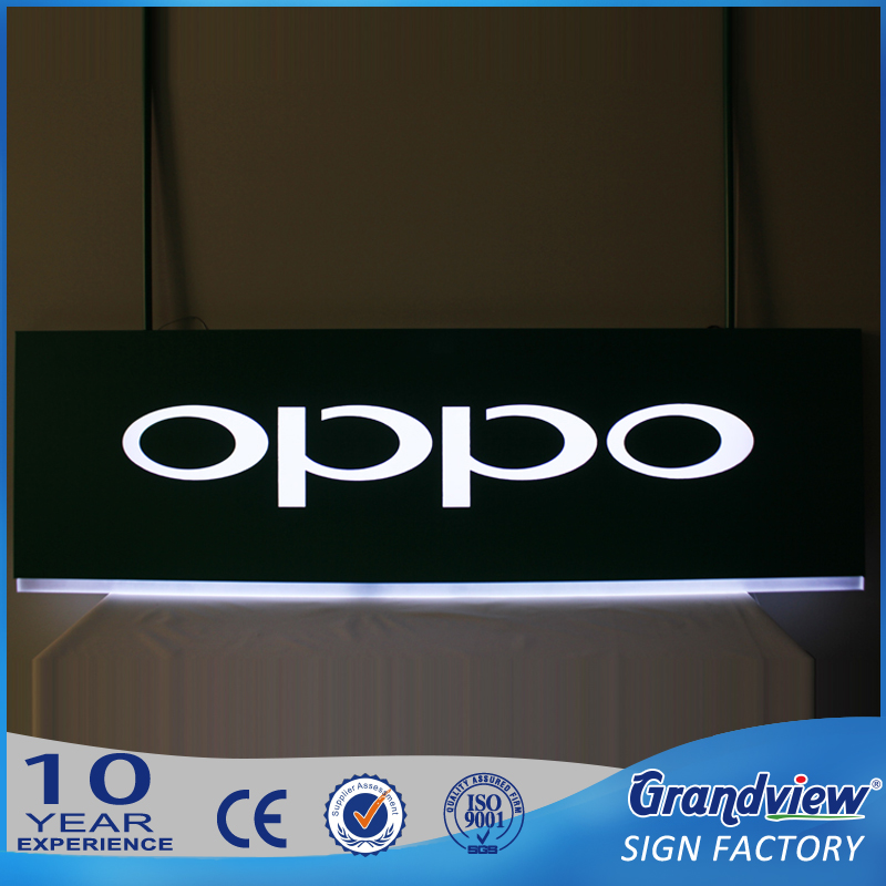metal illuminating led advertising hanging light box, lighted advertising board