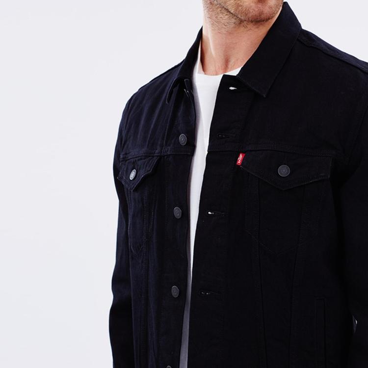15d74a77b8 YIHAO fashion cheap no logo blank causal 100 cotton custom stonewashed  wholesale mens black denim jacket