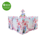 New Design Adorable Customized Logo Pattern Castle Shaped Stable Snack Food Pop Cardboard Pallet Display Stand For Supermarket