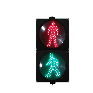 Customized Mould Mini Signal Flashing Warning Led Pedestrian 100mm Traffic Light For School Teaching