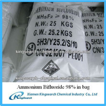 ammonium hydrogen fluoride 98% with best price for sale
