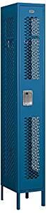 Salsbury Industries 71165BL-U Single Tier 12-Inch Wide 6-Feet High 15-Inch Deep Unassembled Vented Metal Locker, Blue